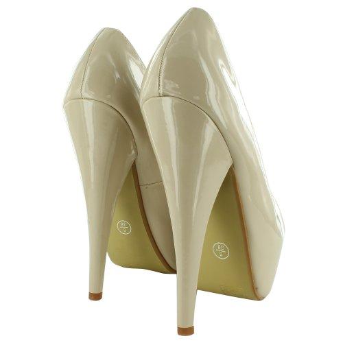 Footwear Sensation - punta abierta mujer - Nude Patent
