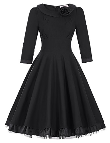 Casual Vintage Classical Dresses sleeve