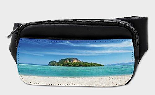 Lunarable Island Bumbag, Coastline in South East Asia, Fanny Pack Hip Waist Bag