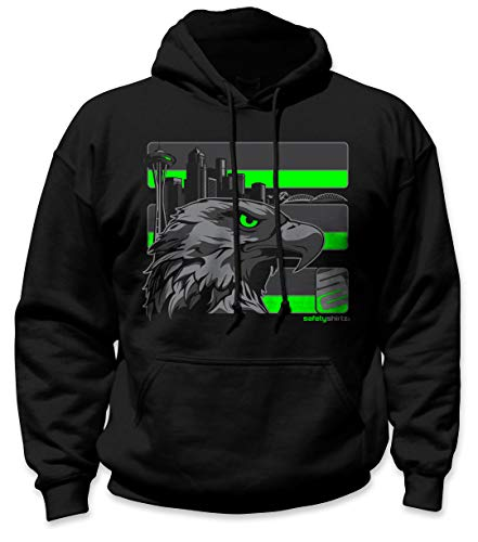 (SafetyShirtz Stealth Seattle Hoodie Black w/Reflective 2XL)