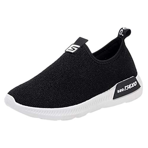 - Sunyastor Women's Walking Shoes Slip on Athletic Tennis Breathable Sport Running Sneakers Loafers Flats Stretch Cloth Shoes Black
