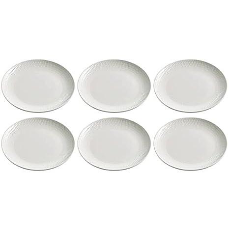 6er SET Dessertteller WHITE BASICS ROUND D 15cm weiß Maxwell /& Williams