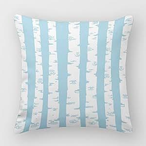 Mascow Christmas Birch Throw Cushion Cover White Throw Pillow Cushion Cover