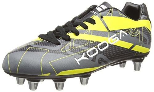 Kooga Evade - Zapatillas de rugby Hombre Negro - Black (Black/Yellow)