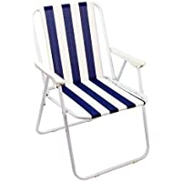 Foldable beach Chair Garden Chair with Armrest - for Poolside Yard Picnic Beach Relaxing Outdoor Comfortable chair
