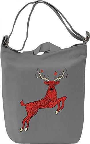 Deer Borsa Giornaliera Canvas Canvas Day Bag| 100% Premium Cotton Canvas| DTG Printing|