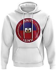 Haiti Football Badge Hoodie (White)