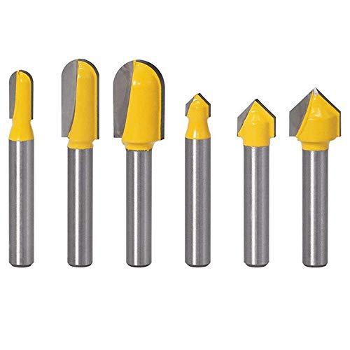 ZJN-JN 切断砥石 3V + 3つの6セットの丸底ナイフディープナックルスロットナイフブレードノッチウッドカッターナイフトリマーカッターウッドシェービングツール 切断工具