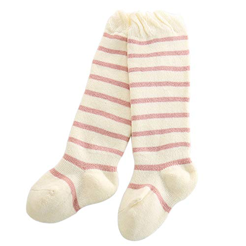 FQIAO Baby Sock Cotton 2-4 Years Thick Long Stripe Unisex Ch