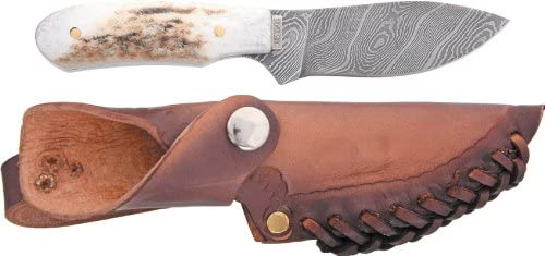 Amazon com : Silver Stag Knives 27 Stag Twist Damascus Fixed