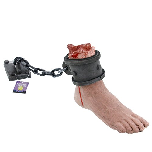 Scariest Halloween Decoration (Halloween Haunters Bloody Foot with Lock)