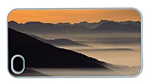 Hipster iPhone 4S cover rubber foggy sunrise PC White for Apple iPhone 4/4S