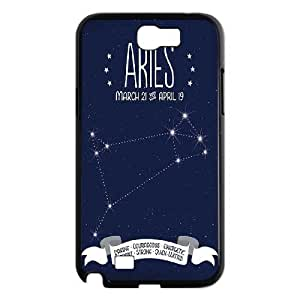 Aries constellation Shell Phone for samsung galaxy note2 Black Cover Phone Case
