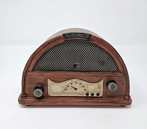 Findlavender Zeckos Brown Vintage Finish Retro Console Radio Coin Bank 7.5