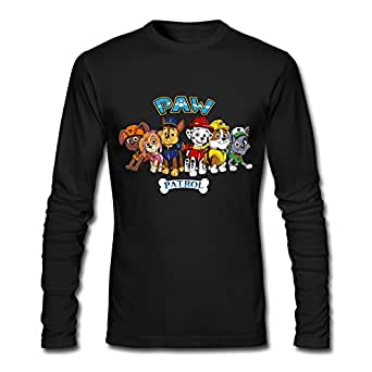 Hejx adult paw patrol logo custom long sleeves for Amazon custom t shirts