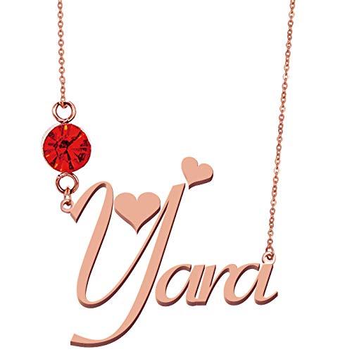 HUAN XUN Customized Name Jewelry Pendant Necklace Yara