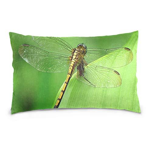 KMAND Dragonfly Wallpaper Cotton Pillowcase 20