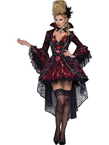 InCharacter Costumes Women's Victorian Vamp Vampiress Costume, Burgundy, X-Large