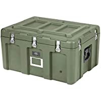 Monoprice Rotomolded Weatherproof Case - Green (29 x 21 x 16 inches) Stackable, with Customizable Foam - Pure Outdoor Collection