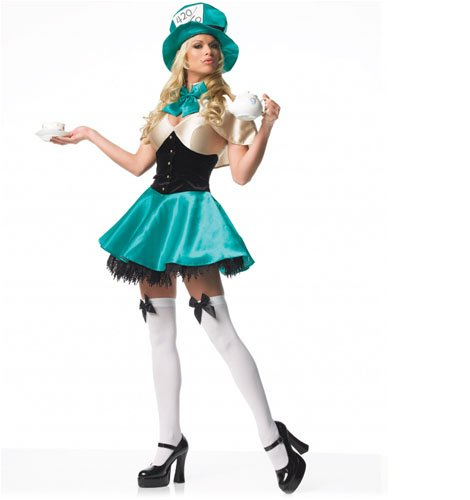 Tea Party Hostess Sexy Costumes (Tea Party Hostess Adult Costume - X-Small)