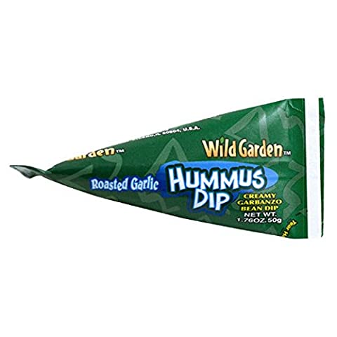 Wild Garden Hummus to Go Roasted Garlic, 1.76 OZ (Pack of 10) (Roasted Garlic Hummus)