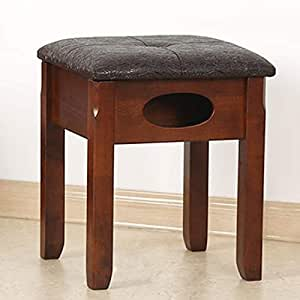 Amazon.com - Household Solid Wood Stool, Multi-Functional Dressing Stool, Simple Shoe Bench