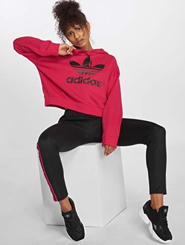 Adidas Lf Tops Magenta Crop Sudadera Hood Mujer Originals XwfE0qXr