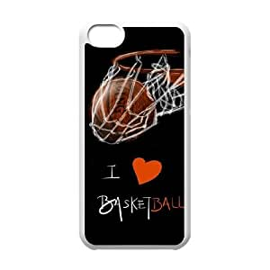 Iphone 5C 2D Customized Phone Back Case with basketball Image