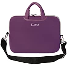 """iColor Purple 9.7"""" 10"""" 10.1"""" 10.2"""" iPad/ Tablet / Laptop Ultra-Portable Neoprene Carrying Bag Sleeve Briefcase Pouch Handle Bag Tote for iPad Air, Kindle Fire HD 10, Dell Venue 10 Pro, 10.1"""" Toshiba Encore 2, PolaTab Q10.1, Dell Inspiron Mini 10"""