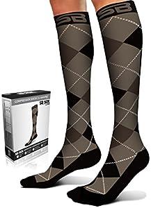SB SOX Lite Compression Socks (15-20mmHg) for Men & Women - BEST Stockings for Running, Medical, Athletic, Edema, Diabetic, Varicose Veins, Travel, Pregnancy