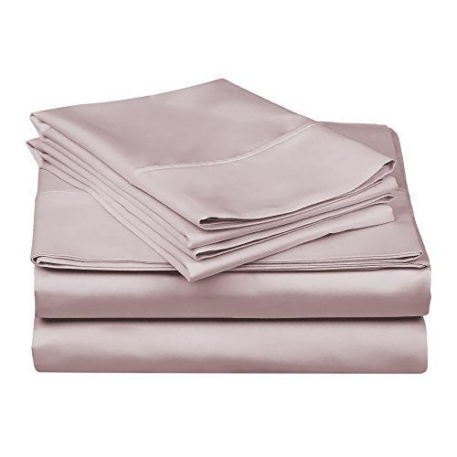 Superior 100% Premium Combed Cotton, 300 Thread Count 4-Piece Bed Sheet Set, Single Ply Cotton, Deep Pocket Fitted Sheets,...