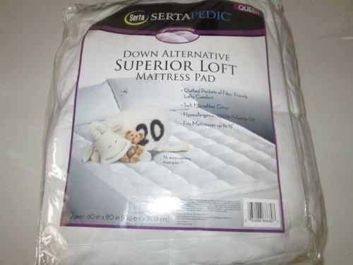 sertapedic superior loft down alternative mattress pad Amazon.com: Sertapedic Down Alternative Superior Loft Queen  sertapedic superior loft down alternative mattress pad