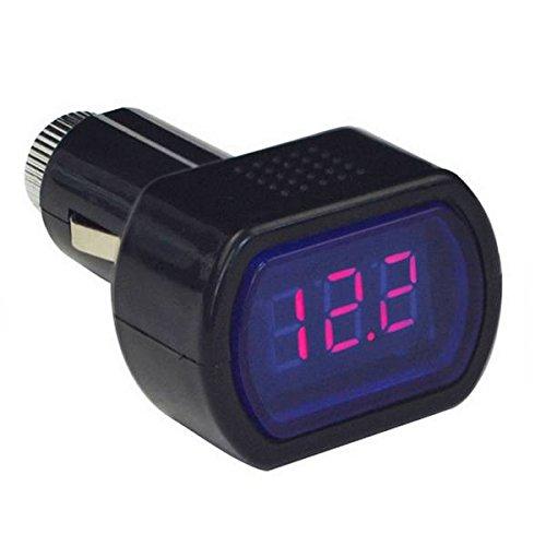 G/én/érique Voltm/ètre Testeur Voltage Batterie Allume-cigare DC 12-24V Num/érique Automatique