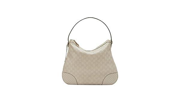 Amazon.com  Gucci Bree Guccissima Leather Hobo Bag Mystic White Bone Ivory  New  Shoes 1f2aae358024d