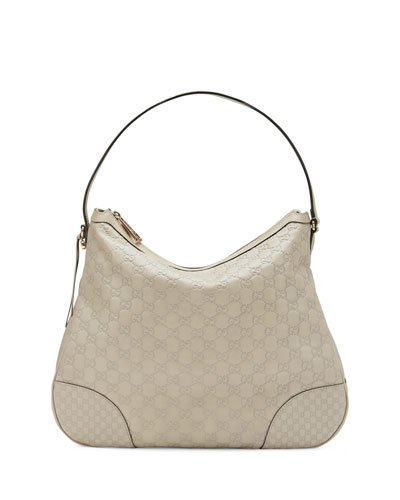 Image Unavailable. Image not available for. Color  Gucci Bree Guccissima  Leather Hobo Bag Mystic White Bone Ivory New 6c78890f386bf