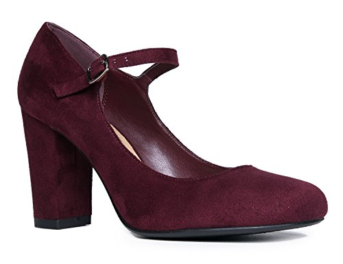 Skippy Heels Toe Pumps Block J Cute Jane Suede Vino Adams Round Chunky Comfortable Mary fnnWqA5P