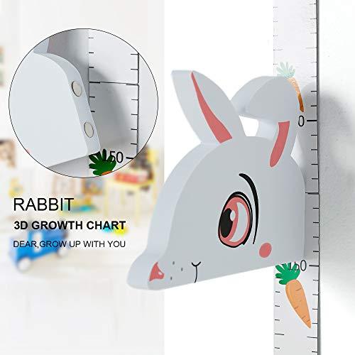 Rabbit Header - WPT 3D Growth Chart Measurement Portable Height Ruler Magnetic Removable EVA Rabbit Header Children¡s Room Decals