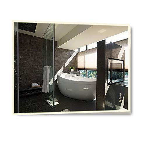 B&C 30x36 inch Lighted Bathroom Mirror Wall Mounted|High Lumen LED Lights with -