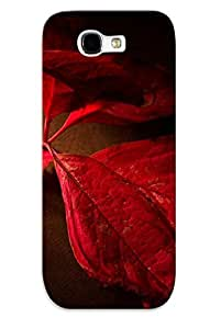 Case For Galaxy Note 2 Tpu Phone Case Cover(red Leaves) For Thanksgiving Day's Gift