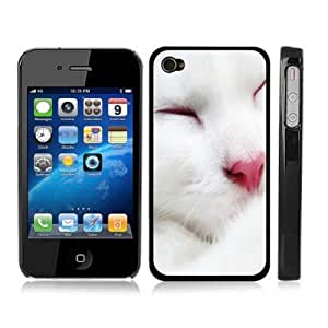 amazon phone cases for iphone 4 cat white kitten snap on cover black 7465