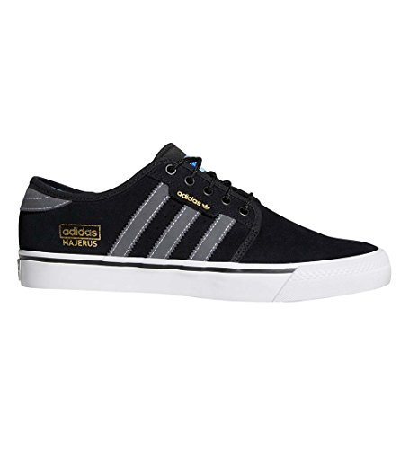 adidas Men's Seeley Og Adv Core Black/Dark Solid Grey Footwear White Ankle-High Leather Skateboarding Shoe - ()