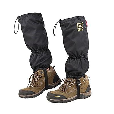 High Snow Leg Gaiters JTENG Double Sealed Velcro Zippered Closure TPU Strap Waterproof Leg gatiers Hiking Ski