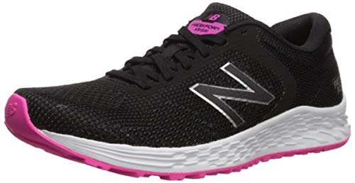 new balance Women's Arishi V2 Fresh Foam Running Shoe, Black/Peony, 9.5 D US