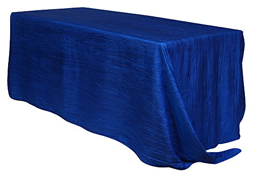 High Quality Your Chair Covers   90 X 132 Inch Rectangular Crinkle Taffeta Tablecloths  Royal Blue, Rectangle Table Linens For 6 Ft Rectangular Tables