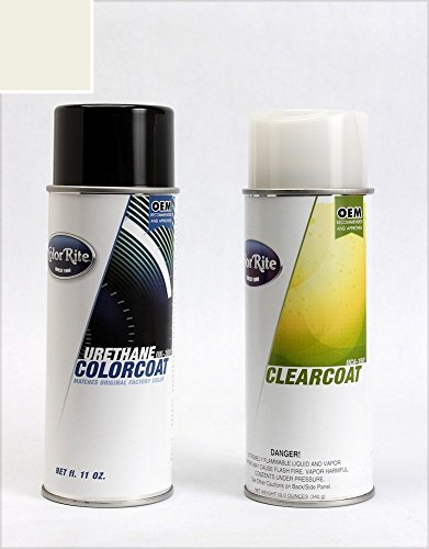ColorRite Aerosol Automotive Touch-up Paint for Subaru Legacy - Satin White Pearl Tricoat 37J - Color+Clearcoat Package