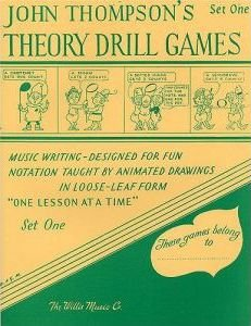 john thompson's theory drill games set one (john thompson's theory drill games)(Paperback) - 1956 Edition
