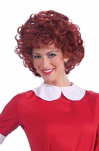 - Forum Novelties Women's Orphan Annie Costume Wig, Red, One Size