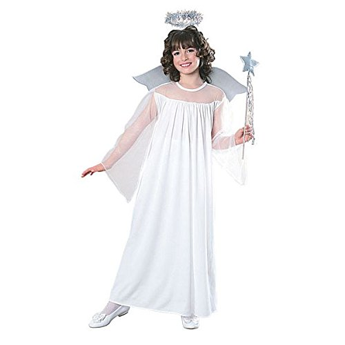 Costume Sent Heaven Angel (MareLight Halloween Heaven Sent Nativity Child Angel Costume with Halo and Wings Small)