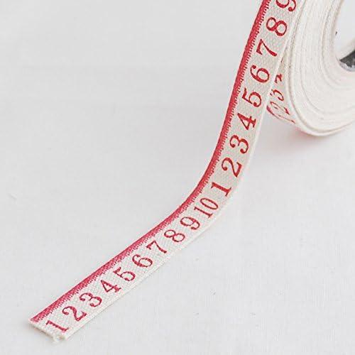 Impreso algodón tela etiqueta – Cinta métrica de costura adorno de ...