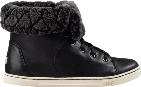 UGG Women's Croft Luxe Quilt Black Boot 5.5 B (M)